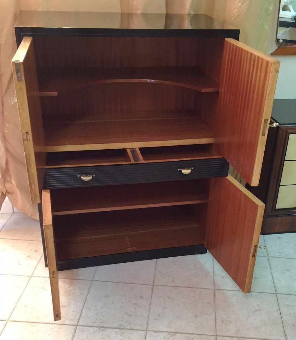 Italian art deco cabinet 1930s for sale at pamono for 1930s kitchen cabinets for sale