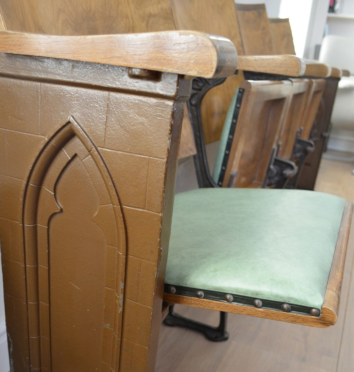 Vintage Gothic Folding Church Bench 1920s For Sale At Pamono