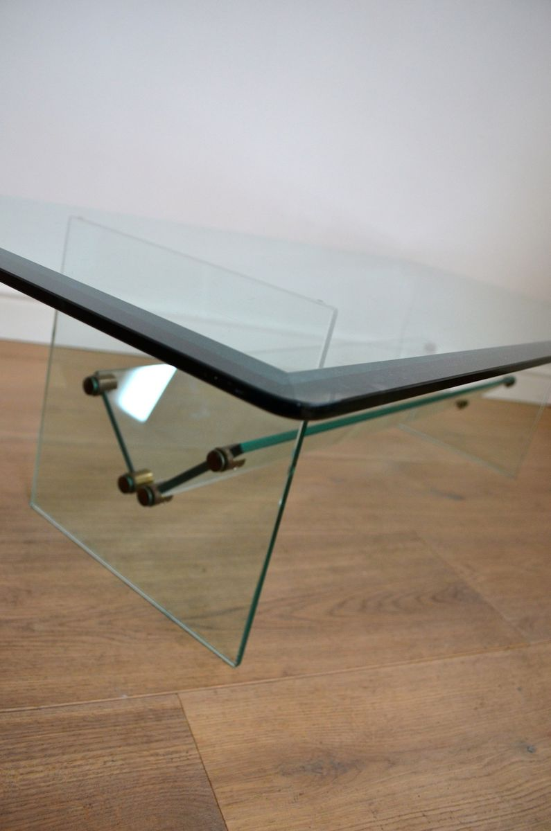 Vintage Glass Coffee Table 1970s For Sale At Pamono