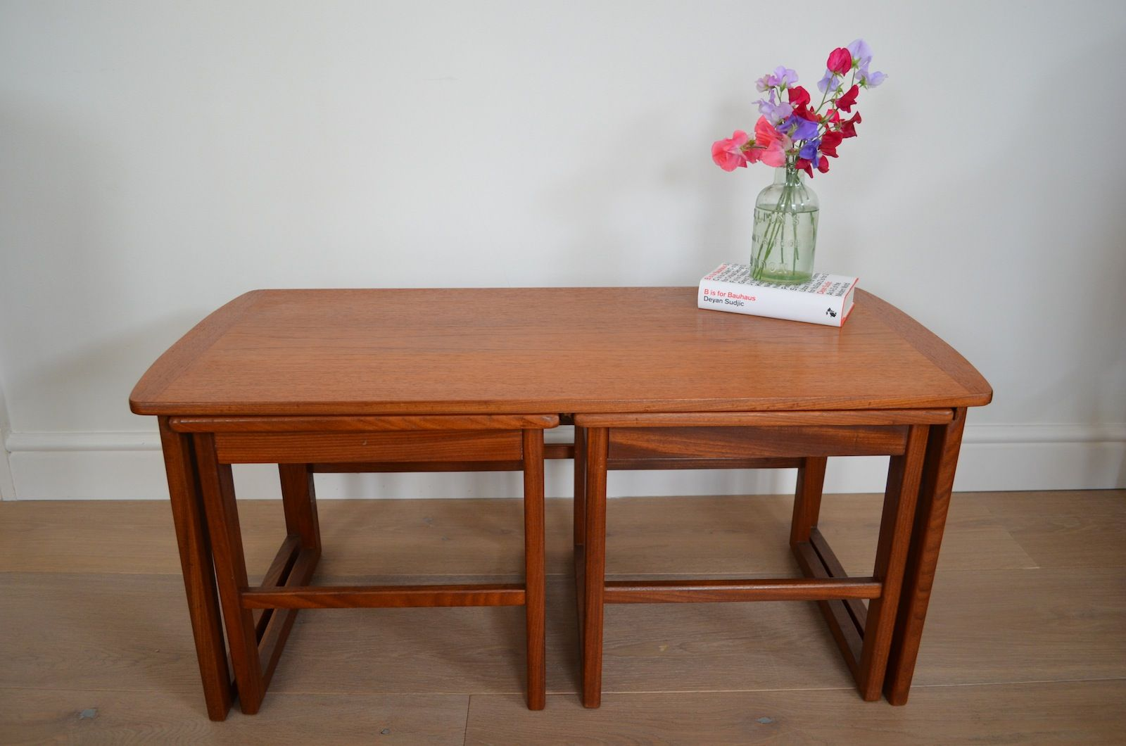 Danish Coffee Table With Two Nesting Tables 1950s Set Of 3 For Sale At Pamono