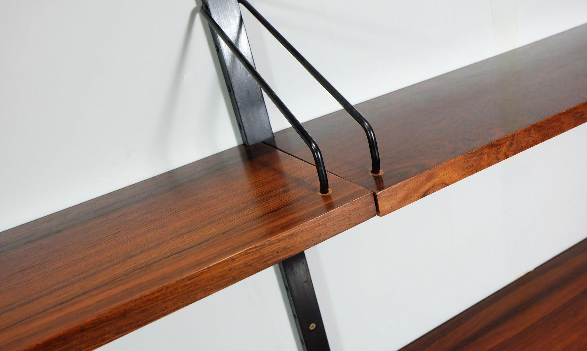 regalwand von poul cadovius f r royal system ca 1960er bei pamono kaufen. Black Bedroom Furniture Sets. Home Design Ideas