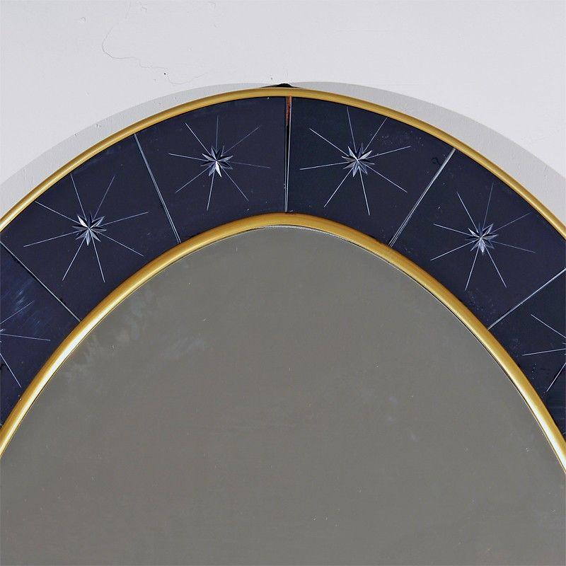 vintage konsolentisch mit spiegel von cristalarte italien. Black Bedroom Furniture Sets. Home Design Ideas