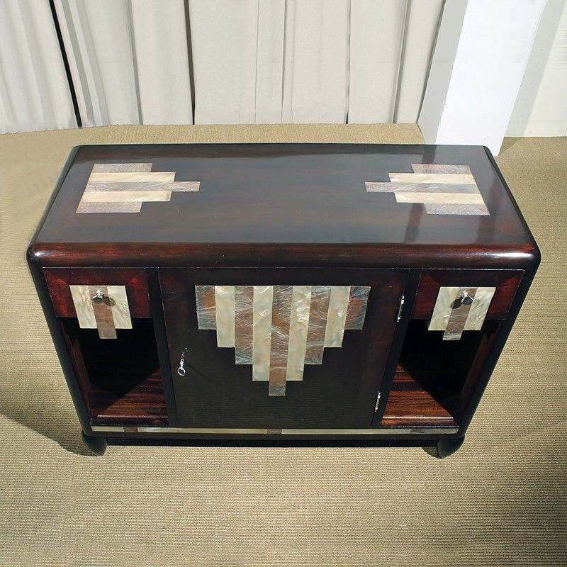 Low Art Deco Cabinet, France, 1920s for sale at Pamono