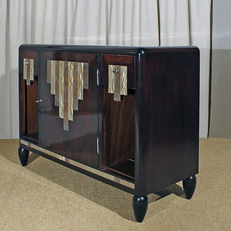 Art Deco Kitchen Cabinets: Low Art Deco Cabinet, France, 1920s For Sale At Pamono