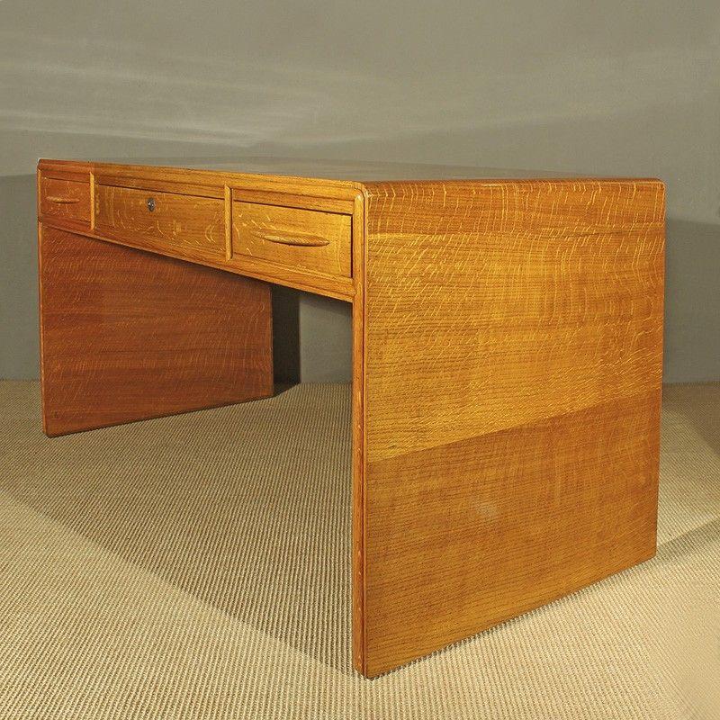 art deco schreibtisch aus eiche italien 1930er bei. Black Bedroom Furniture Sets. Home Design Ideas