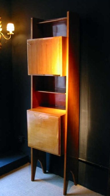 Wild Cherrywood Bookcase, 1950s