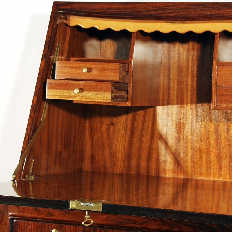 Italian rosewood secretary cabinet 1940s for sale at pamono for 1940s kitchen cabinets for sale