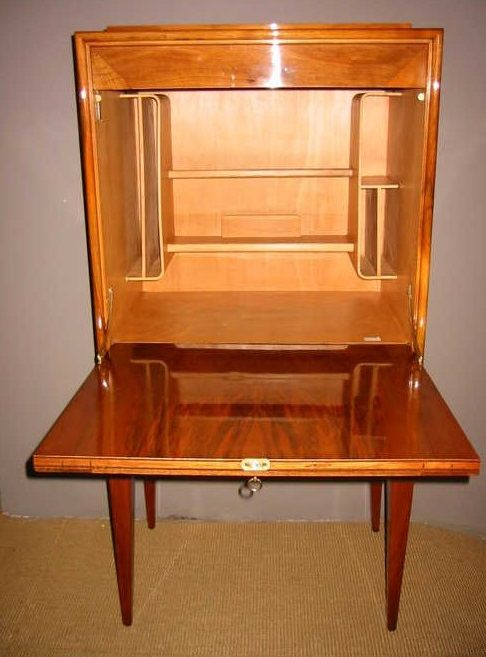 French walnut secretary cabinet 1940s for sale at pamono for 1940s kitchen cabinets for sale