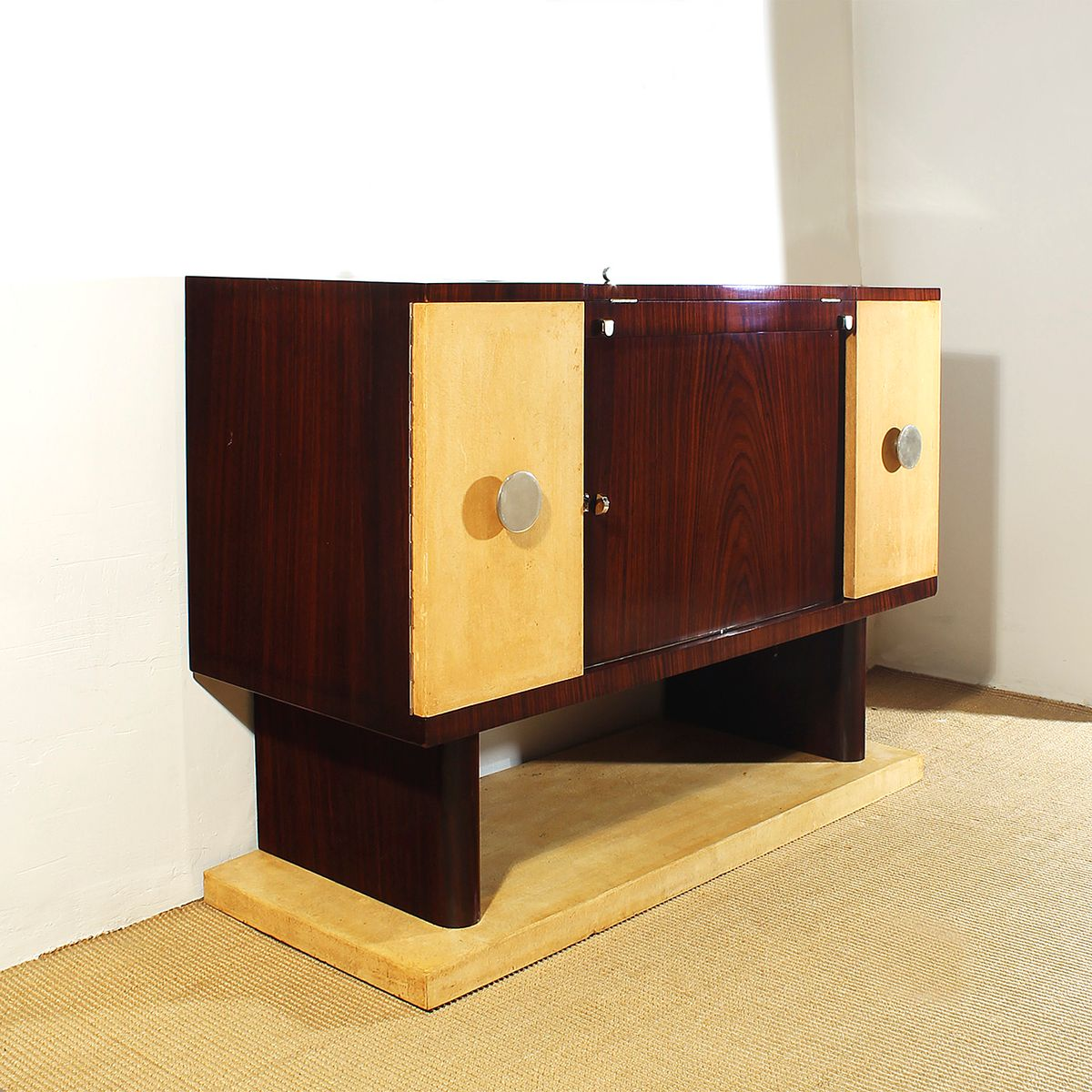 Art deco small bar cabinet 1930 for sale at pamono for Small bar cabinet
