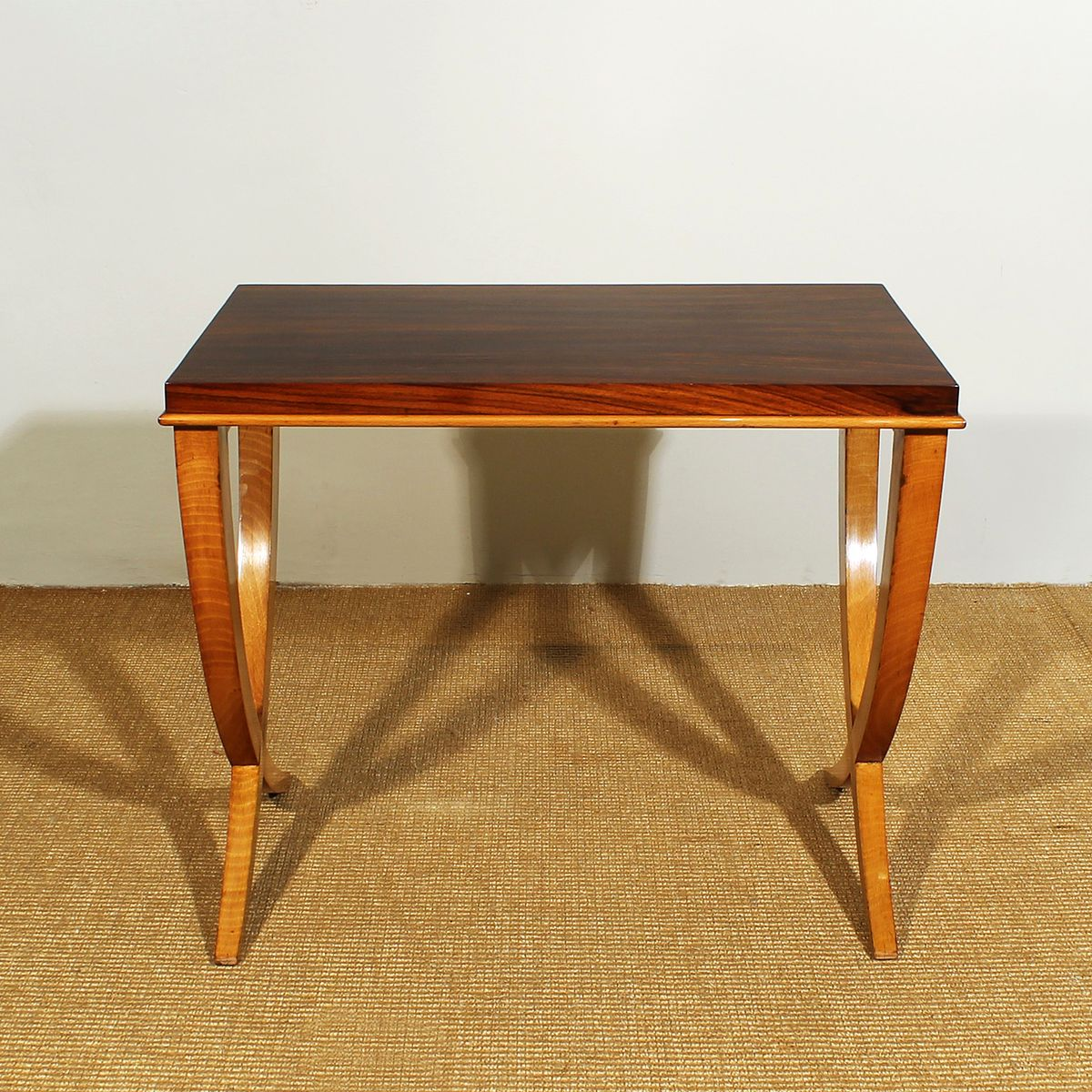 Amazing photo of Beech & Rosewood Nesting Tables by De Coene 1940s Set of 3 for sale  with #B47D18 color and 1200x1200 pixels