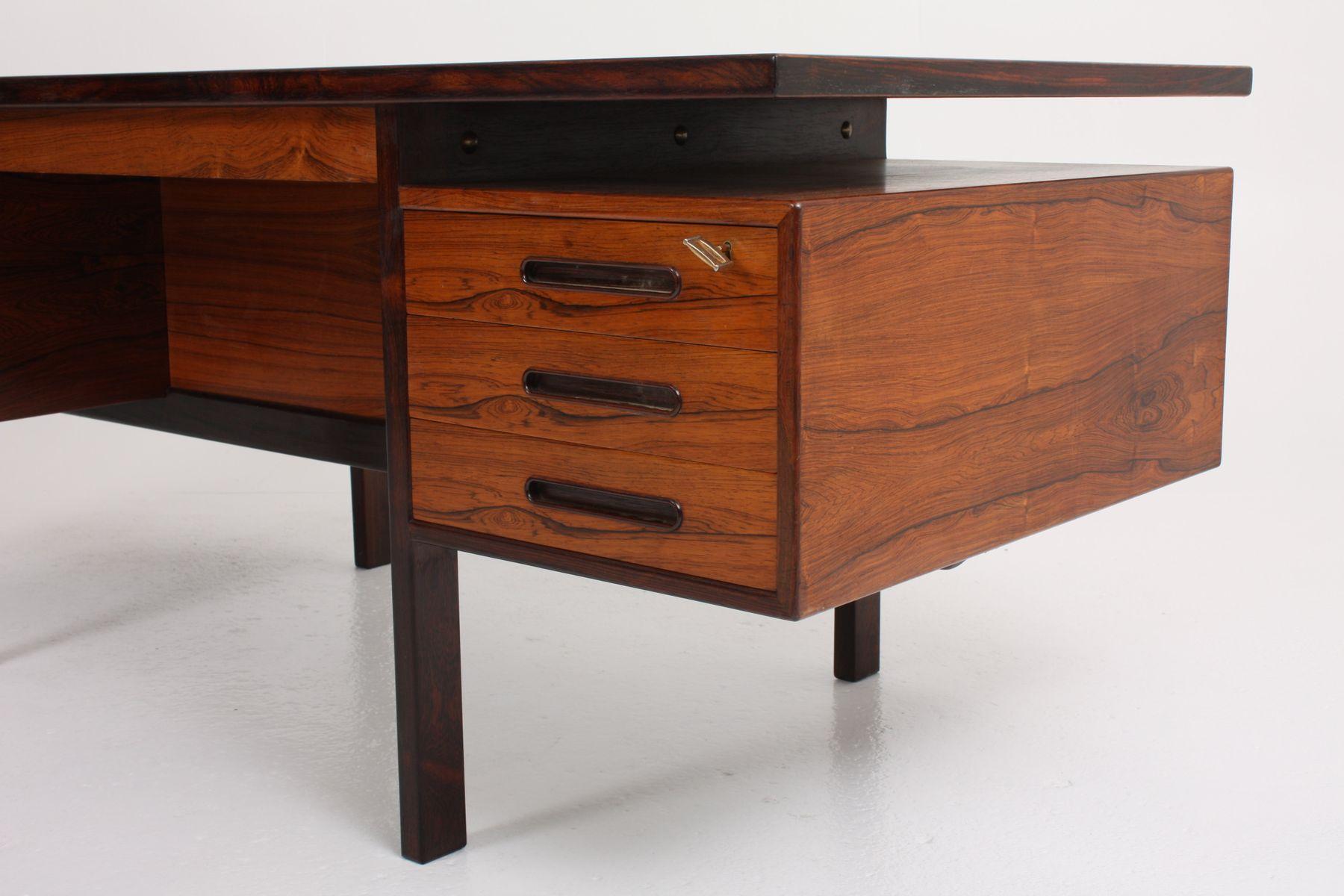 palisander schreibtisch aus d nemark 1960er bei pamono kaufen. Black Bedroom Furniture Sets. Home Design Ideas