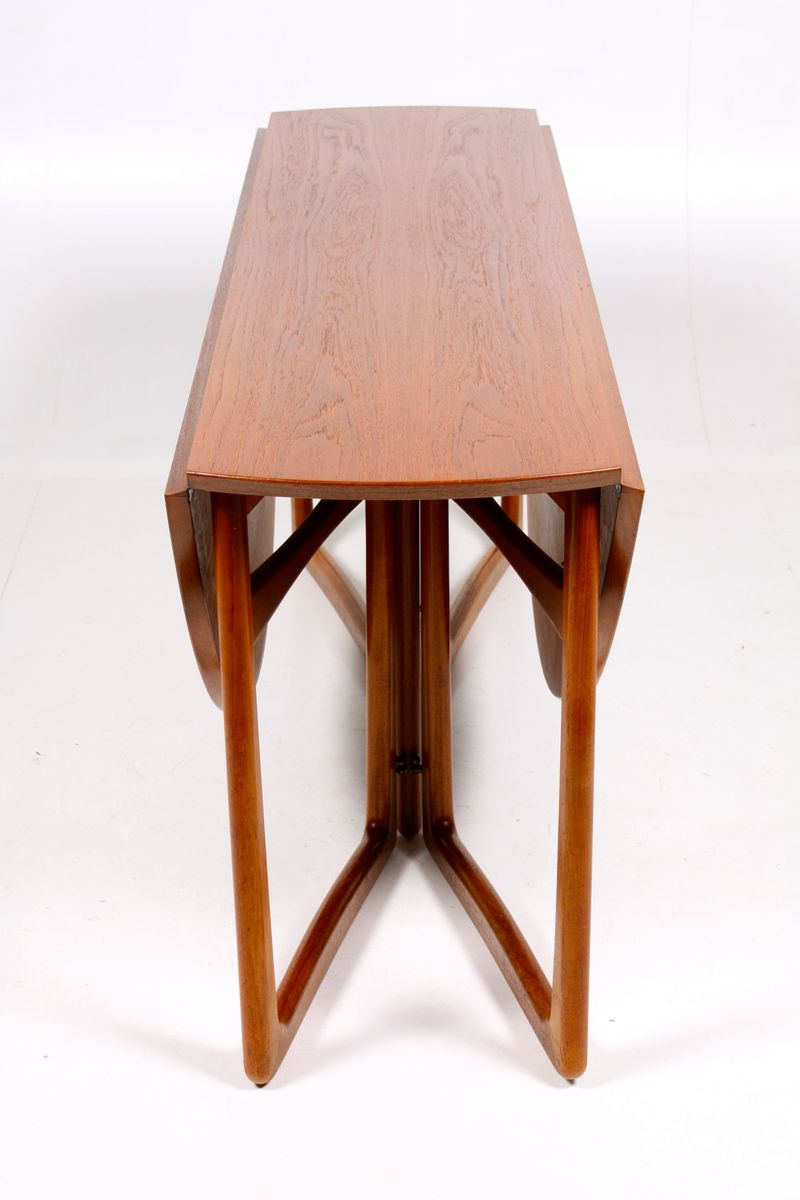 Gateleg dining table by p hvidt o m lgaard nielsen for sale at pamono - Round gateleg dining table ...