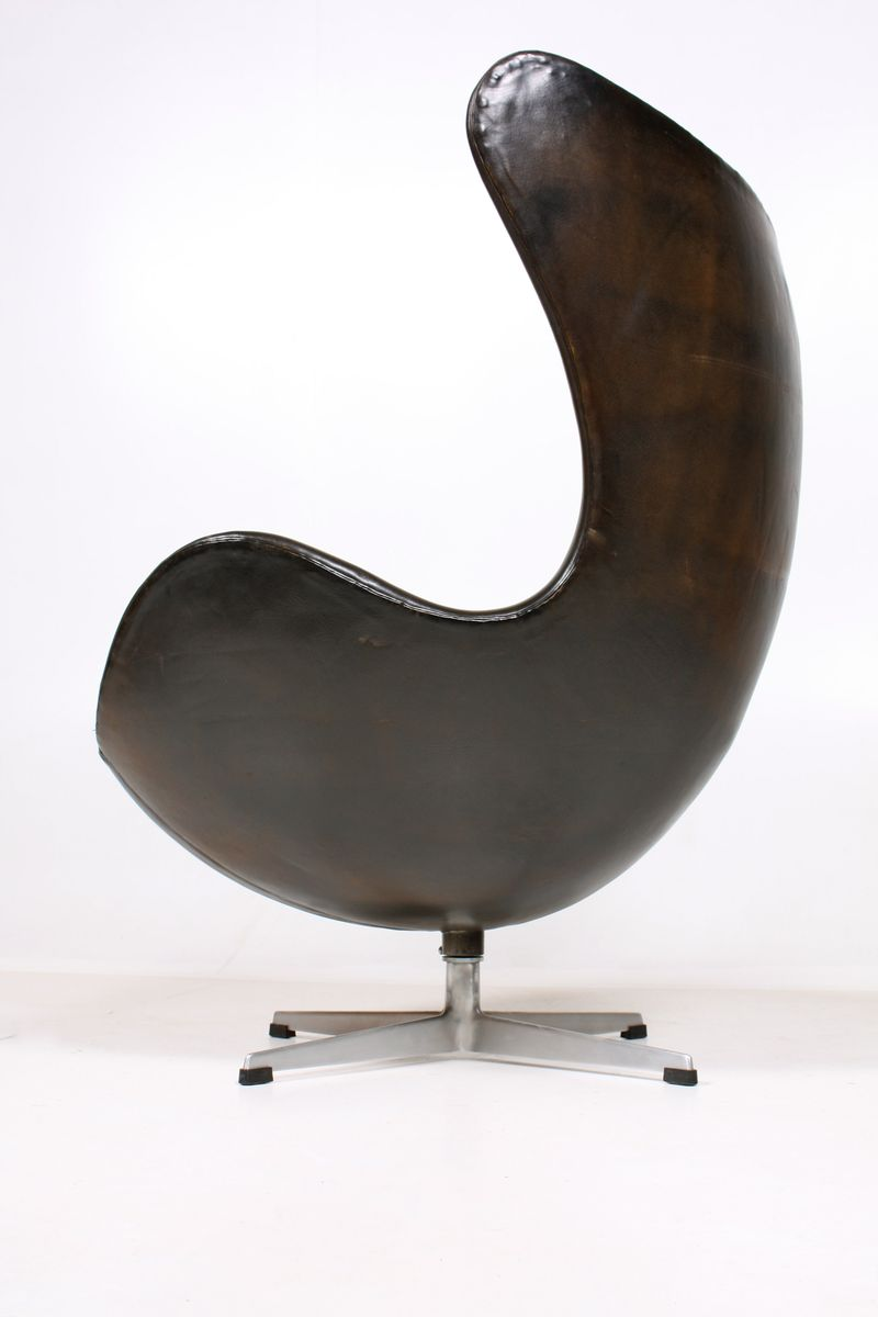 egg chair ottoman by arne jacobsen for sale at pamono. Black Bedroom Furniture Sets. Home Design Ideas