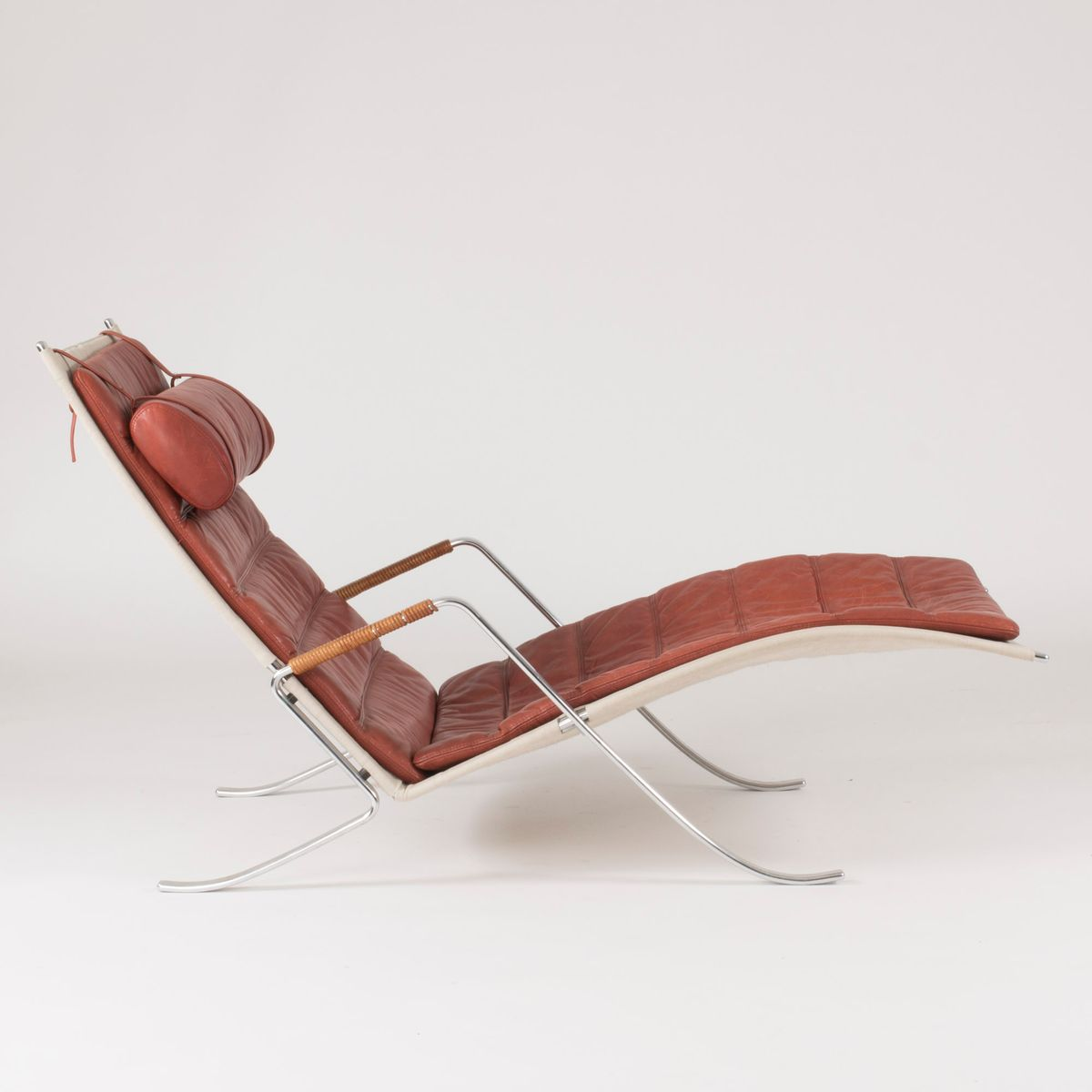 Grasshopper chaise lounge by fabricius kastholm for for Chaise longue nl