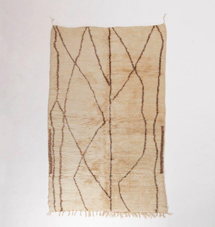 vintage beni ourain teppich aus marokko bei pamono kaufen. Black Bedroom Furniture Sets. Home Design Ideas