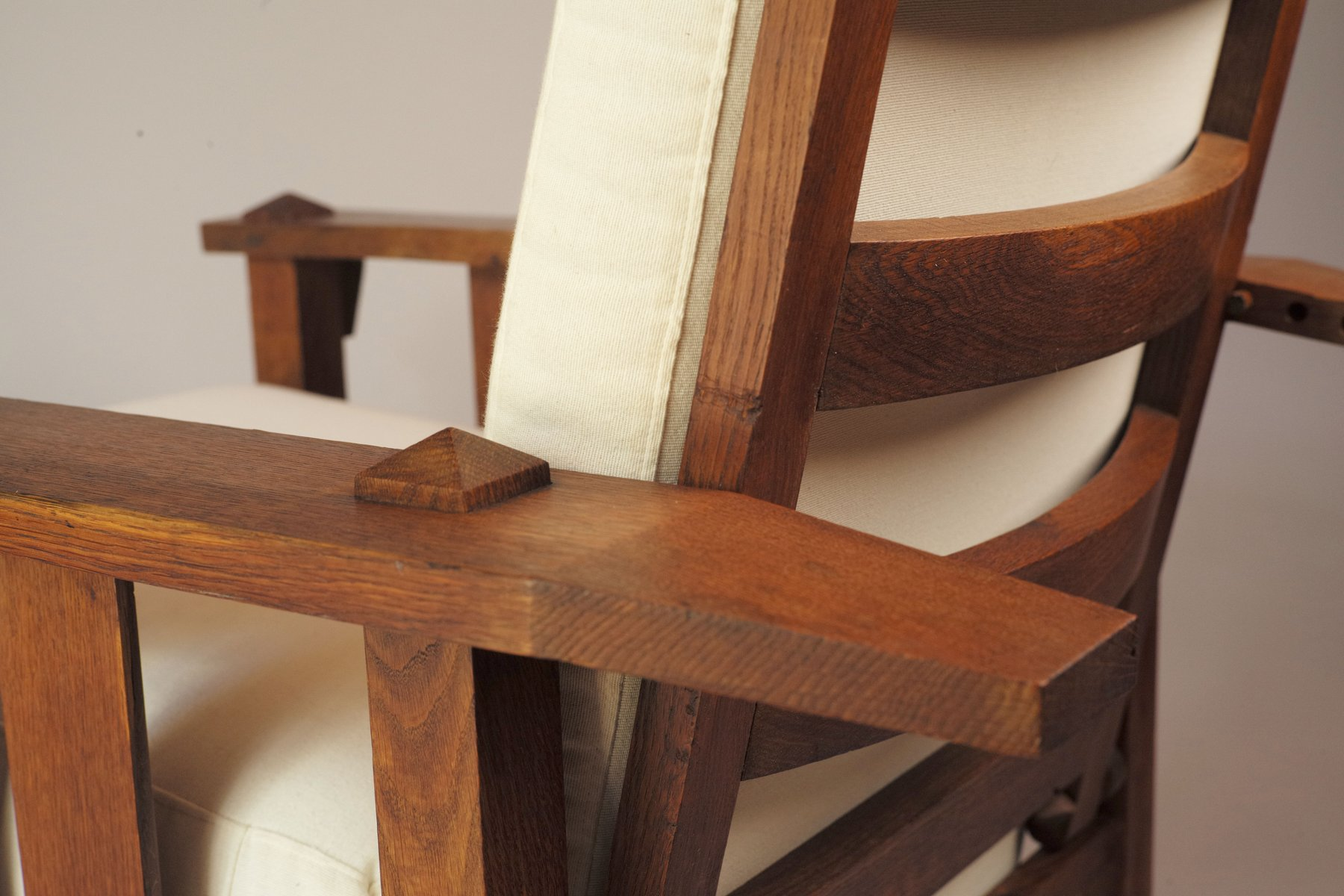 American Oak Reclining Chair 1900s for sale at Pamono