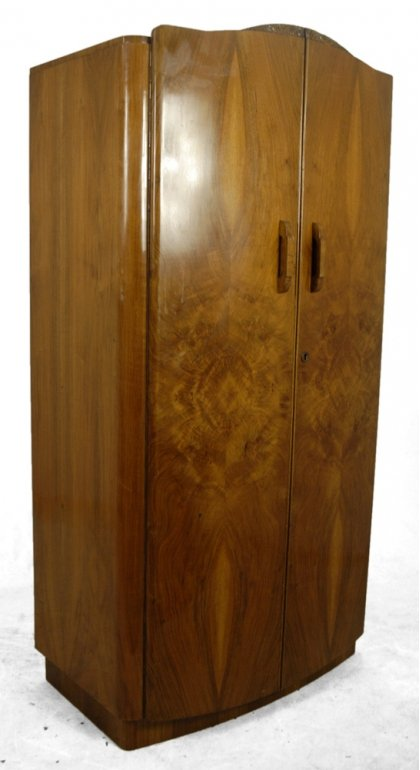 Vintage Walnut Wardrobe, 1930s For Sale At Pamono