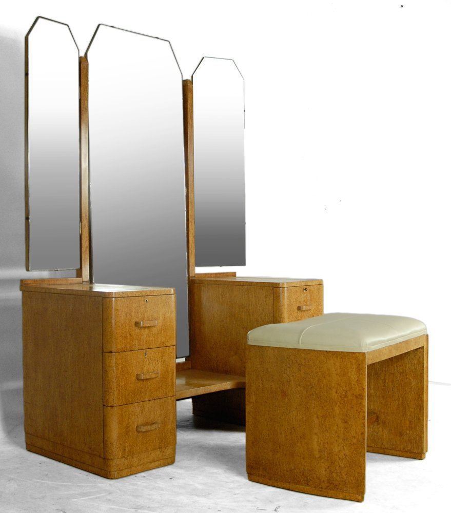 art deco dressing table 1930s for sale at pamono. Black Bedroom Furniture Sets. Home Design Ideas