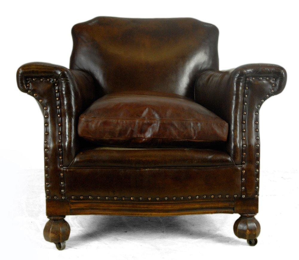 franz sischer leder club sessel 1940er bei pamono kaufen. Black Bedroom Furniture Sets. Home Design Ideas