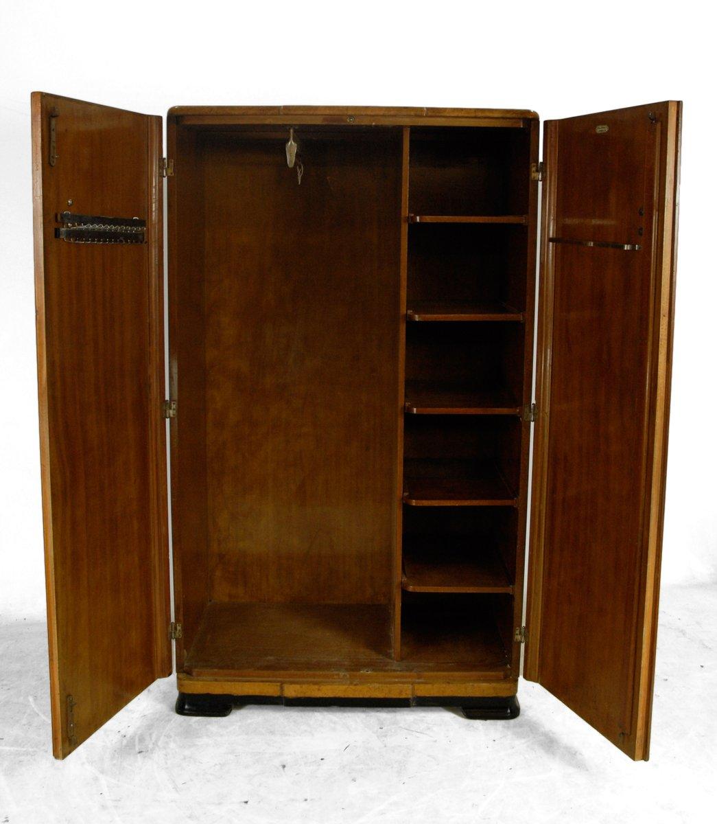 art d co herren garderobe aus walnuss 1930er 2er set bei pamono kaufen. Black Bedroom Furniture Sets. Home Design Ideas
