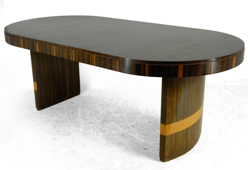french art deco rosewood dining table 1930s for sale at pamono. Black Bedroom Furniture Sets. Home Design Ideas