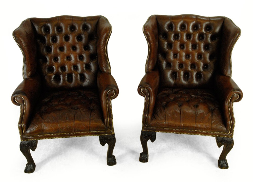 Georgian Style Wing Chairs 1950 Set Of 2 For Sale At Pamono