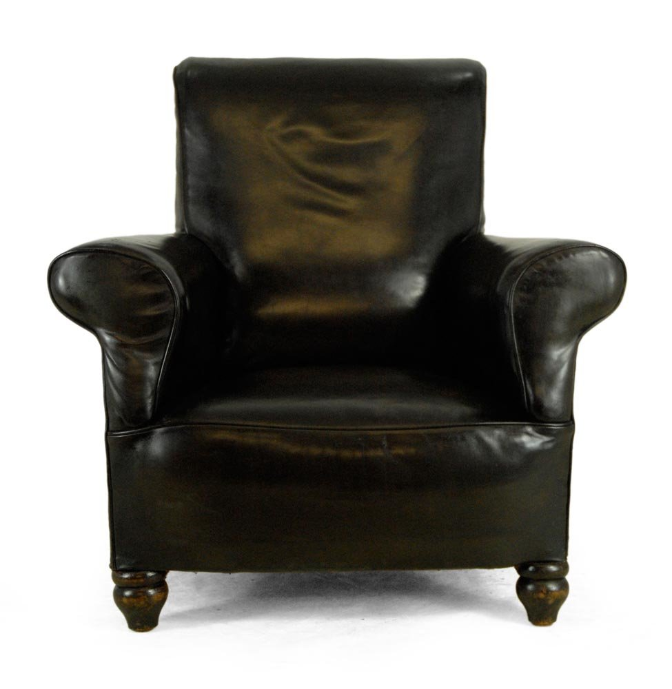 Black Vintage Leather Armchair 1940s For Sale At Pamono