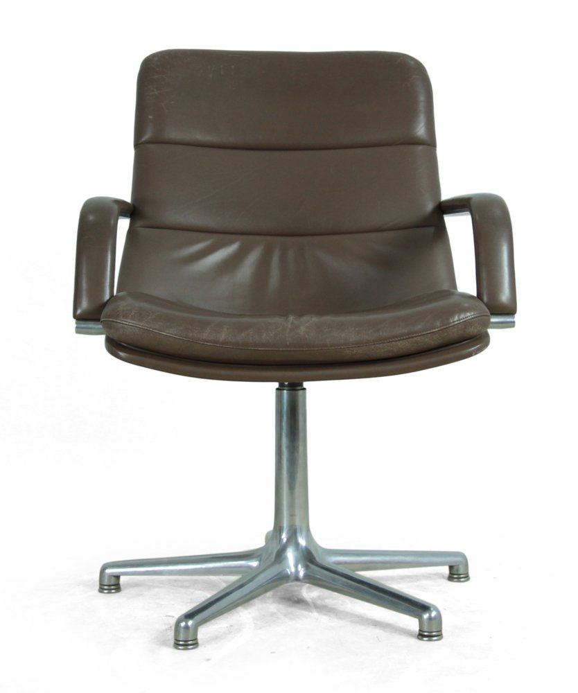 vintage leather aluminium desk chair from artifort for sale at pamono. Black Bedroom Furniture Sets. Home Design Ideas