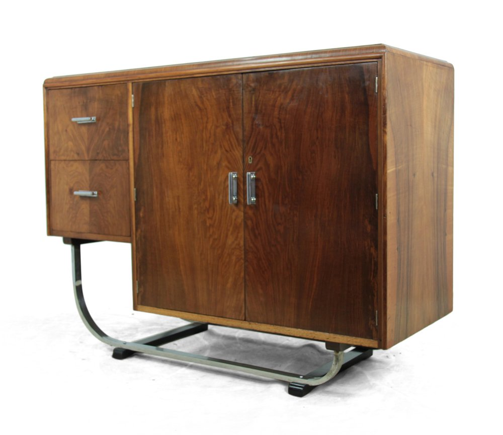 Walnut art deco sideboard 1930s for sale at pamono - Deko sideboard ...