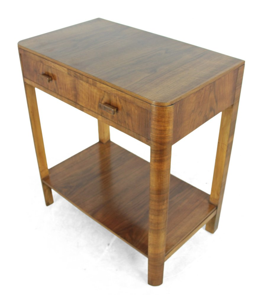 Art deco walnut side table from heal 39 s 1930 for sale at for Walnut side table