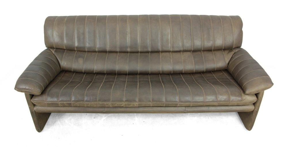 vintage leder 3 sitzer sofa von de sede bei pamono kaufen - Moderne Esszimmer Einrichtung Moebel Ideen