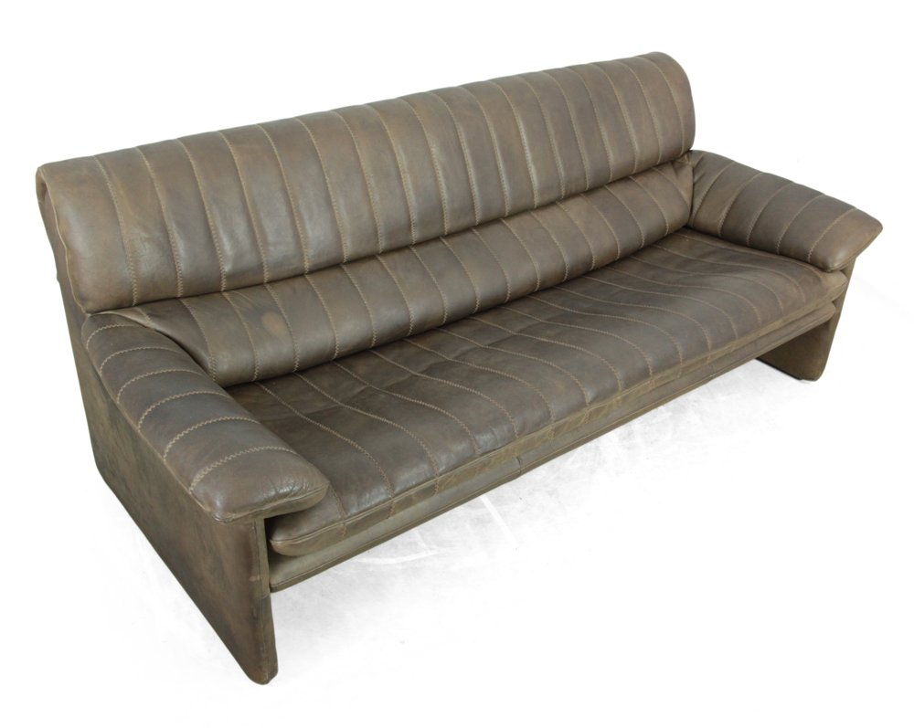 vintage leather 3 seater sofa from de sede for sale at pamono. Black Bedroom Furniture Sets. Home Design Ideas