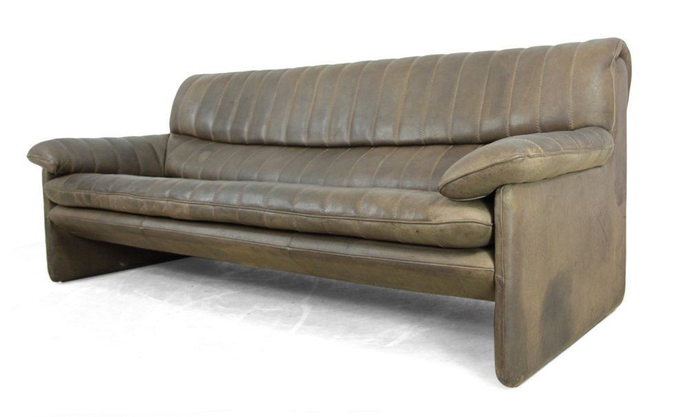 Vintage leather 3 seater sofa from de sede for sale at pamono for Leather sofa 7 seater