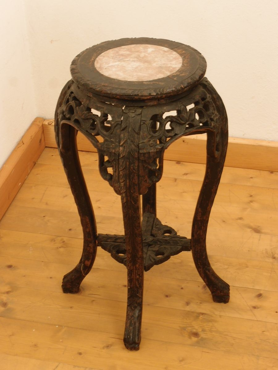 Antique hand carved side table from china 1890 for sale for Antique chinese tables for sale