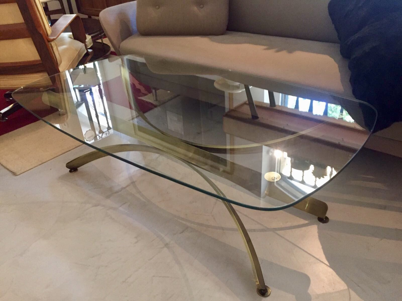 Vintage Glass Coffee Tables Set of 2 for sale at Pamono