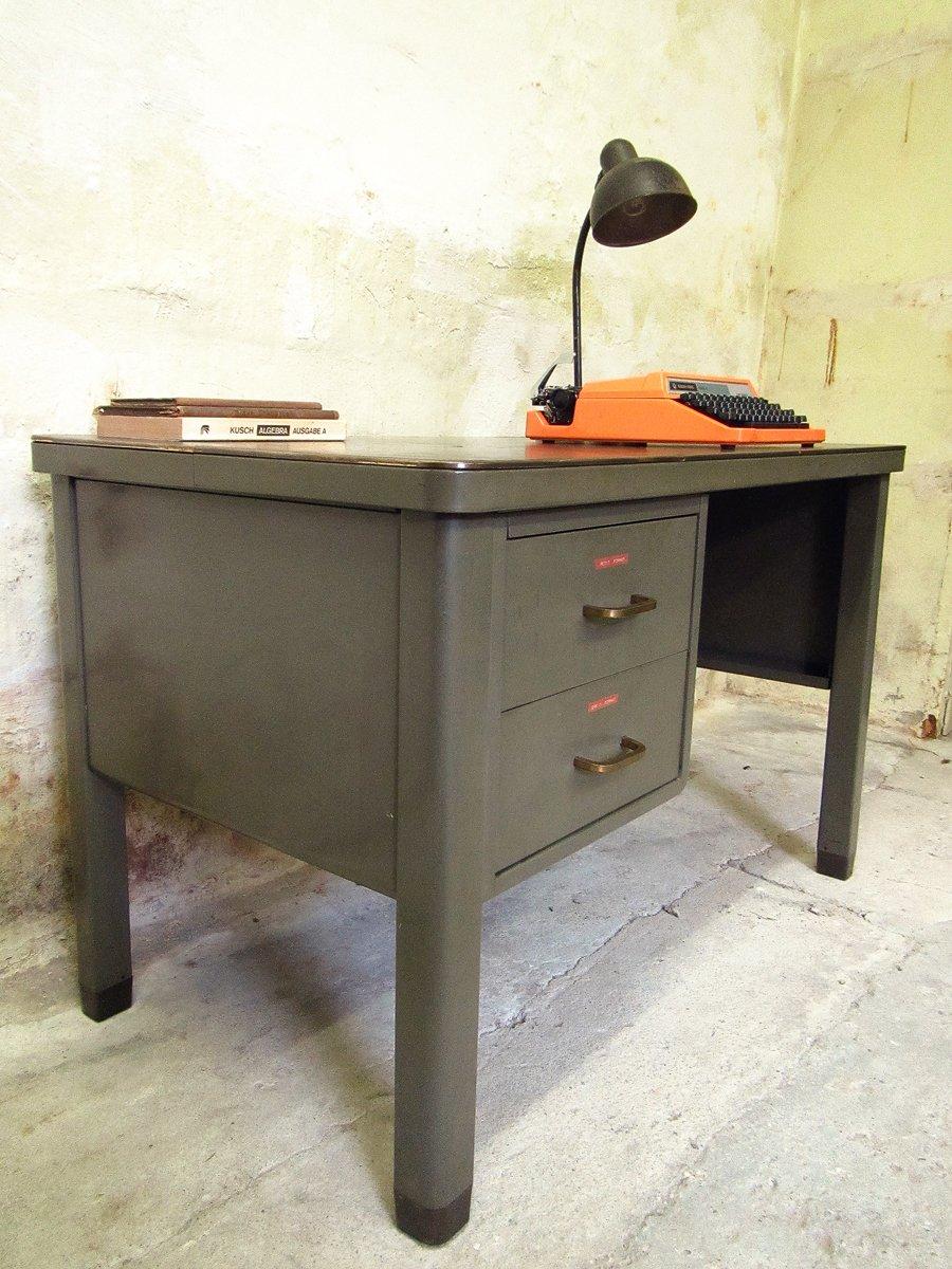 Industrieller metall schreibtisch von acior bei pamono kaufen for Schreibtisch metall