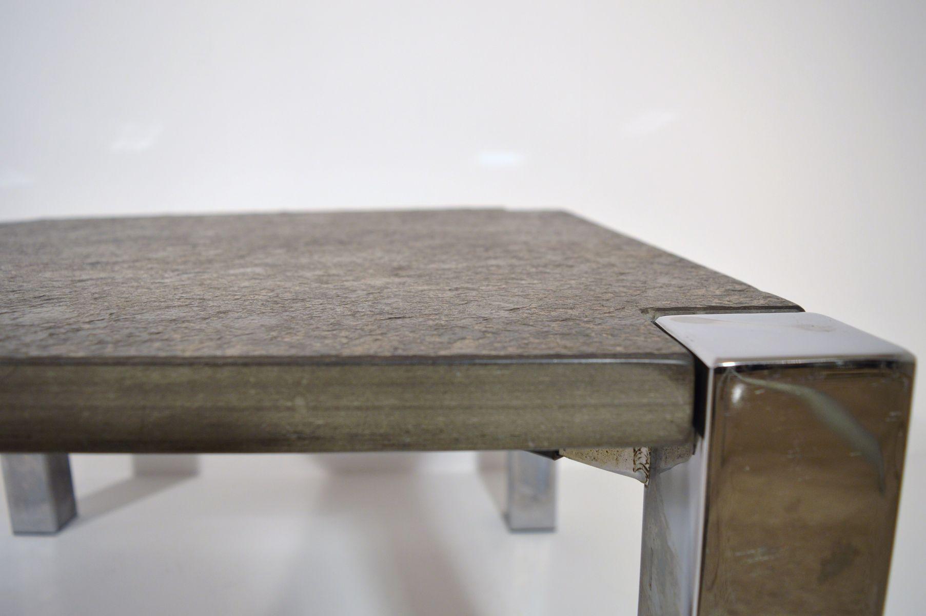 deutscher mid century schiefer couchtisch 1960er. Black Bedroom Furniture Sets. Home Design Ideas