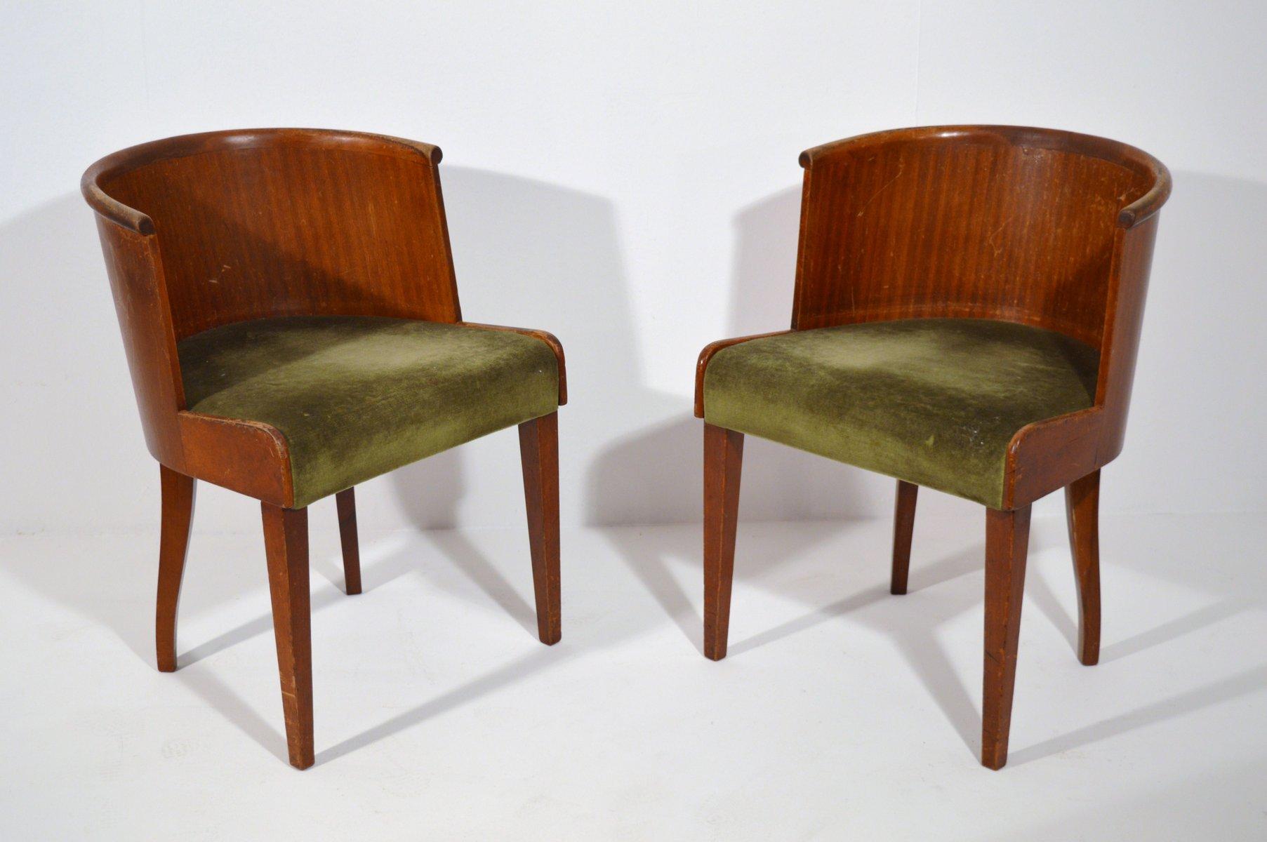 schreibtischst hle von decoene 2er set bei pamono kaufen. Black Bedroom Furniture Sets. Home Design Ideas