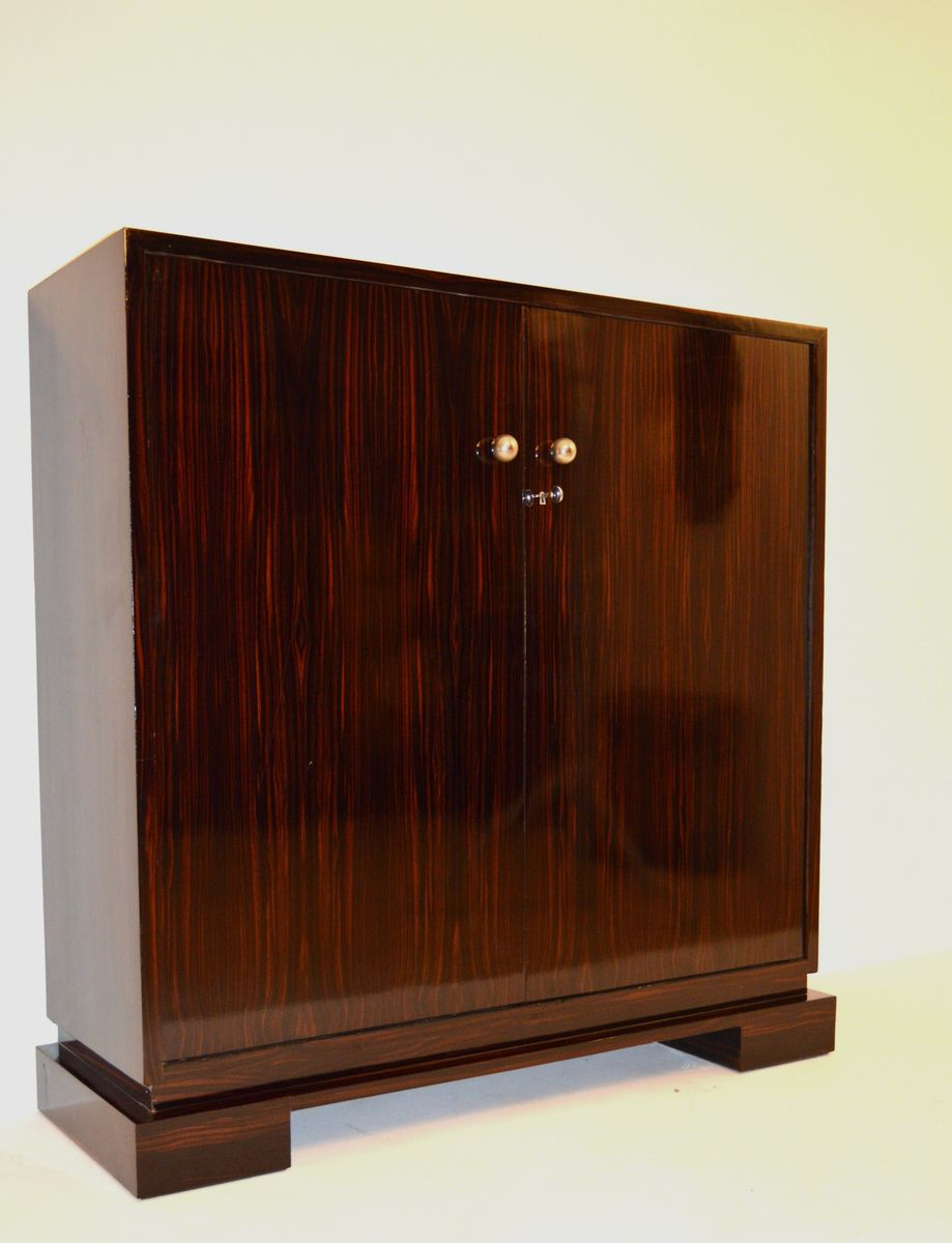 Art deco macassar ebony cabinet 1930s for sale at pamono for 1930s kitchen cabinets for sale