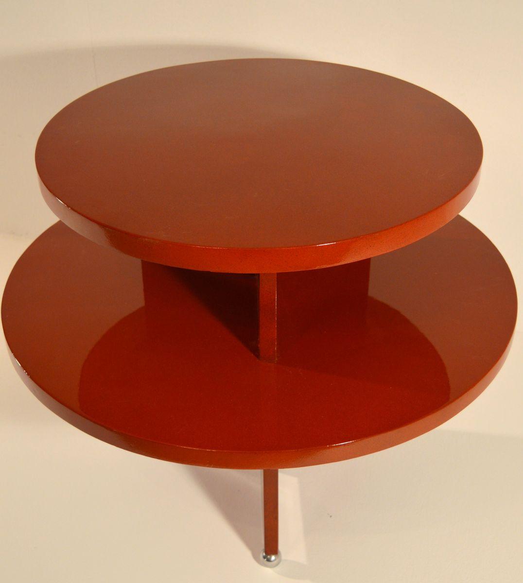 table basse art d co en rouge laqu 1930s en vente sur pamono. Black Bedroom Furniture Sets. Home Design Ideas