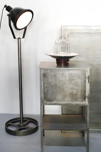 industrial stehlampe von leuchtenbau leipzig bei pamono kaufen. Black Bedroom Furniture Sets. Home Design Ideas
