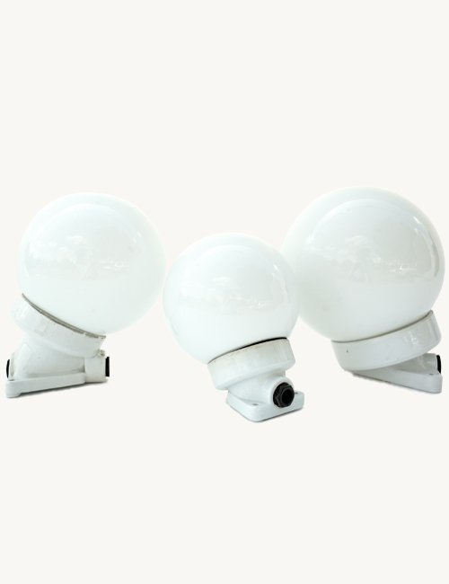 White Globe Porcelain Wall Light, Small for sale at Pamono