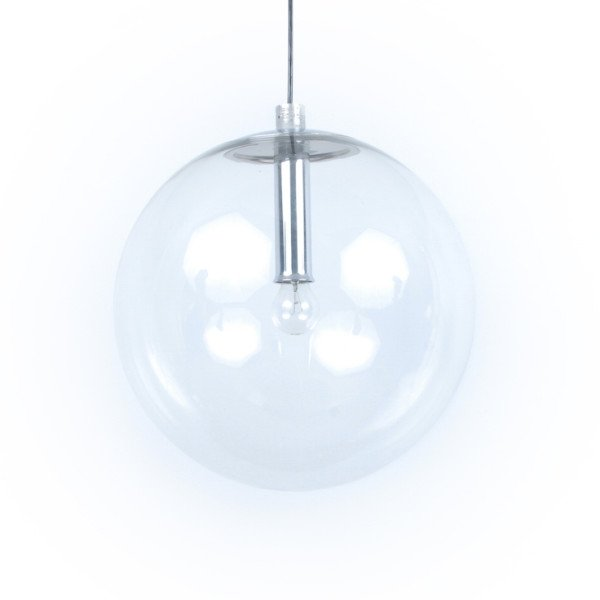 Glass Globe Hanging Lamp from Peill & Putzler, 1970s for sale at ...