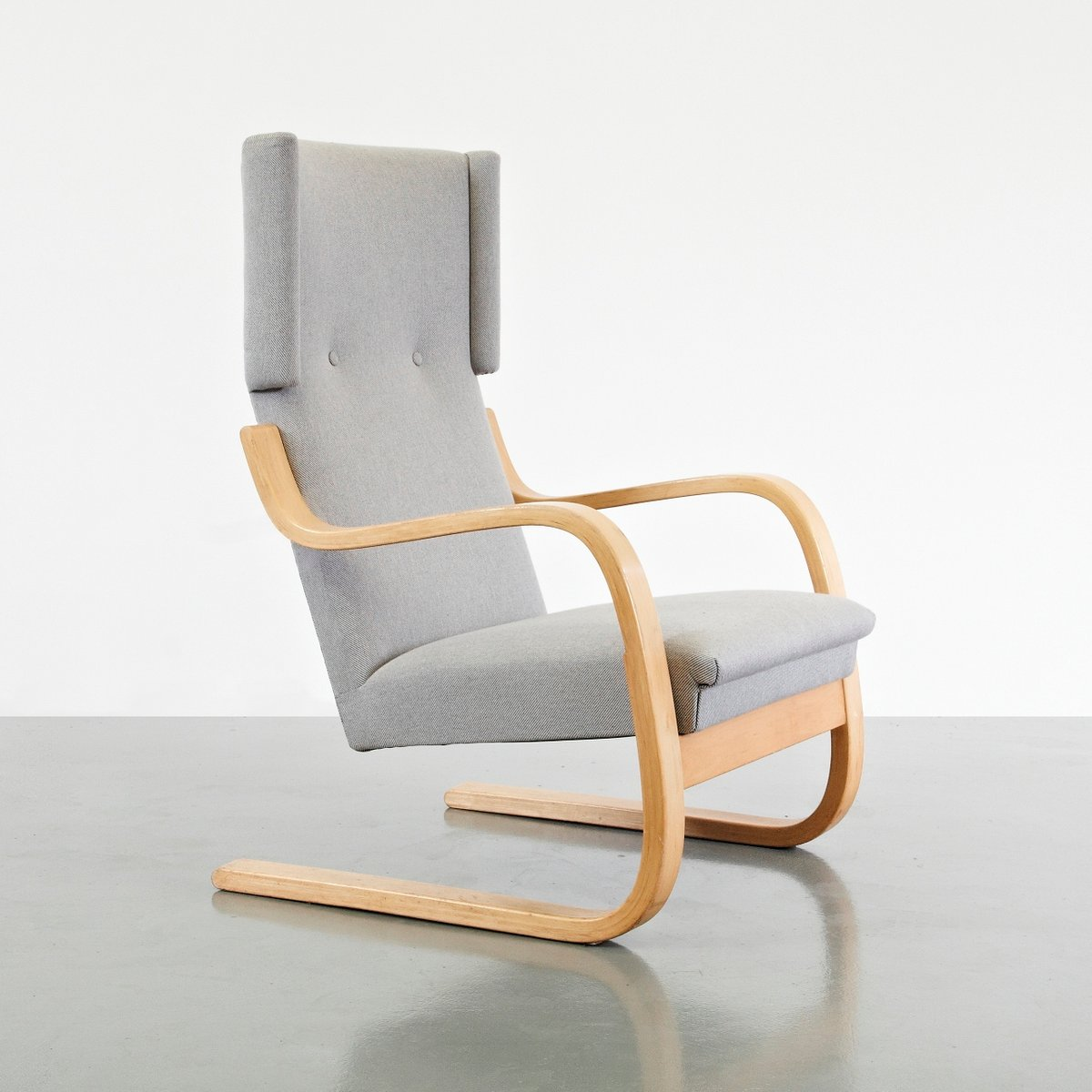 Wingback lounge chair by alvar aalto 1950s for sale at pamono for Chaise alvar aalto
