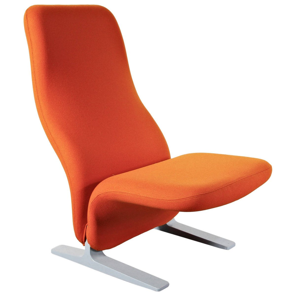 fauteuil concorde orange par pierre paulin pour artifort 1960 en vente sur pamono. Black Bedroom Furniture Sets. Home Design Ideas