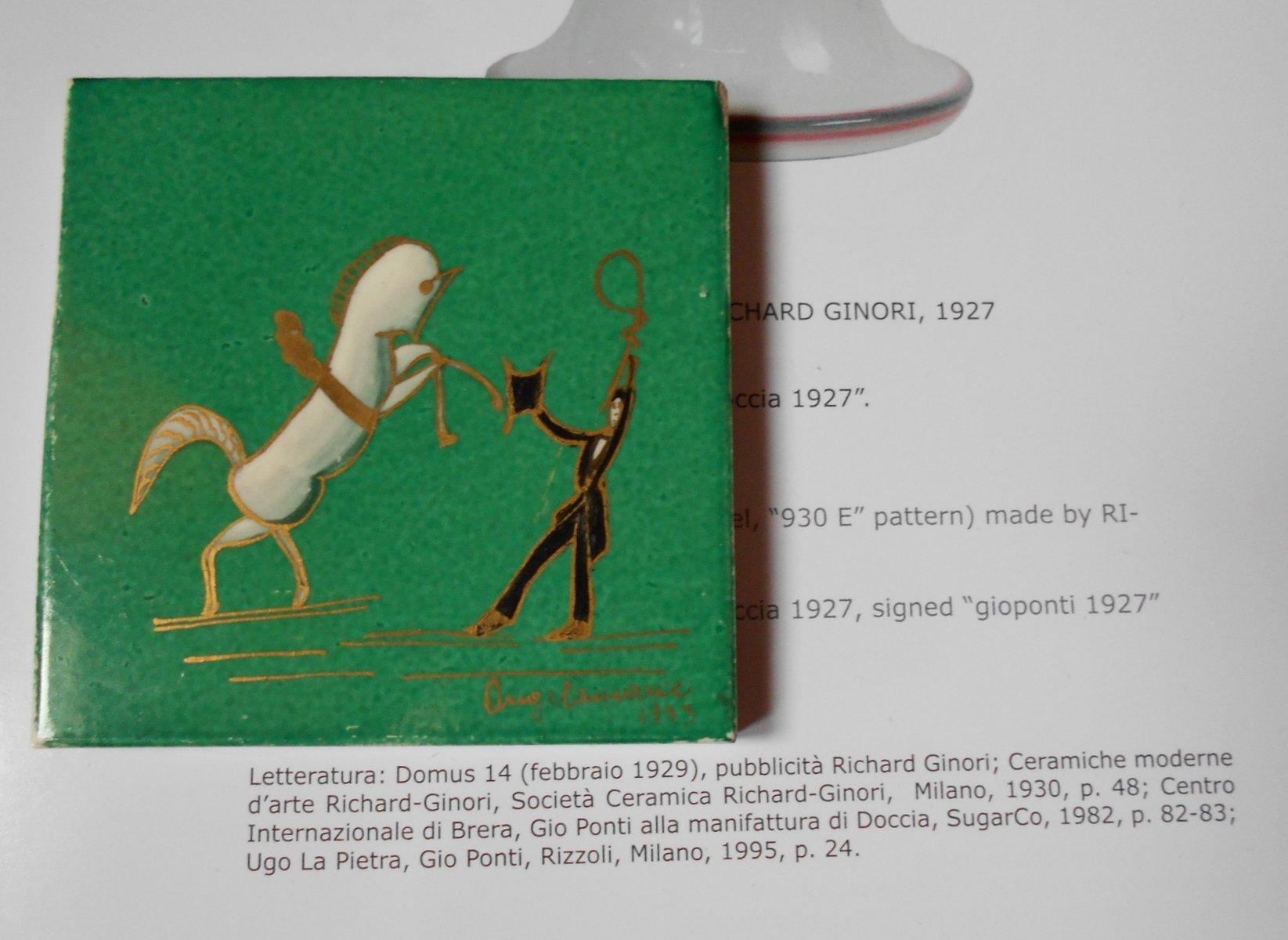 Art deco ceramic tile by gio ponti for richard ginori 1933 for price 72100 regular price 77300 dailygadgetfo Gallery