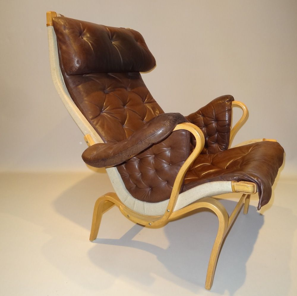 Pernilla Lounge Chair by Bruno Mathsson for DUX for sale at Pamono