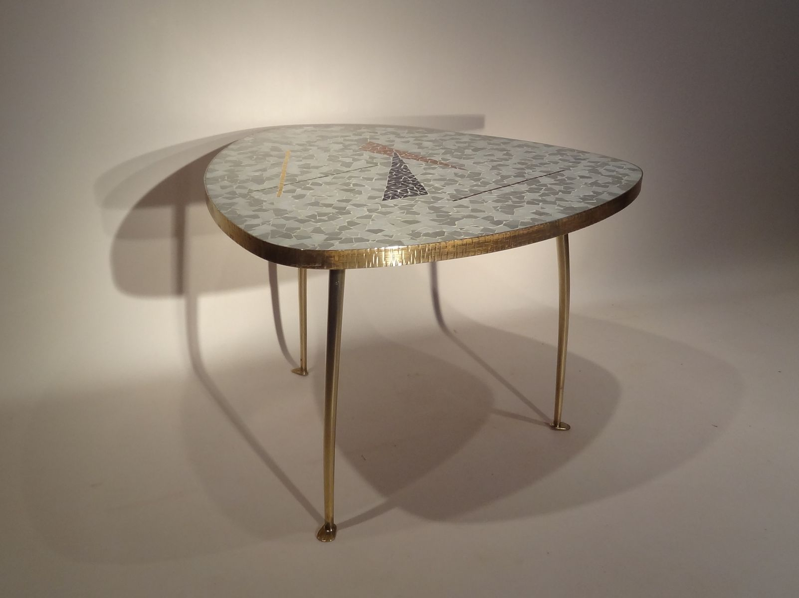 Vintage coffee table with mosaic top for sale at pamono for Mosaic coffee table designs