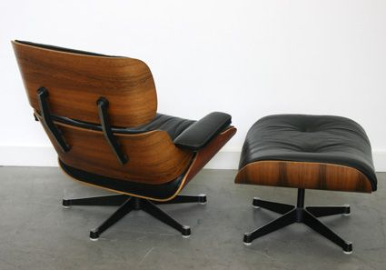 vintage eames sessel und ottoman set von vitra bei pamono kaufen. Black Bedroom Furniture Sets. Home Design Ideas