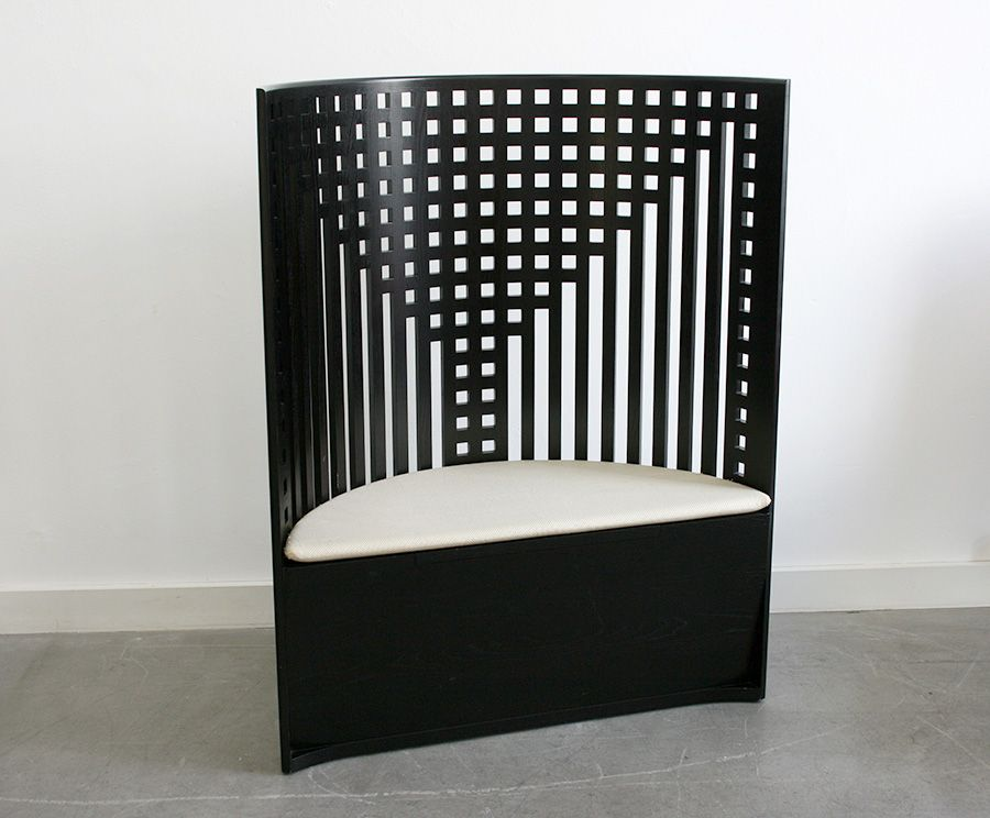 willow 1 side chair by charles rennie mackintosh for cassina 1973 for sale at pamono. Black Bedroom Furniture Sets. Home Design Ideas